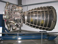 A Space Shuttle Main Engine, probably the most thoroughly tested rocket engine in the world