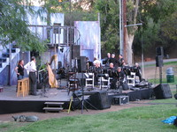 Setup for Symphony in the Glen (Griffith Park), which mixed Shakespeare and some music.