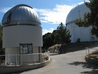"On the left: another CHARA dome; on the right is (I think) the 100"" telescope's dome."
