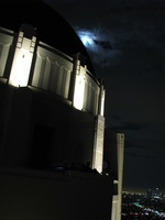 Moon over Griffith Observatory.