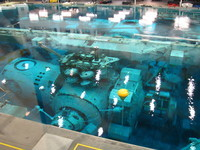 An underwater replica of ISS modules for neutral bouyancy training.