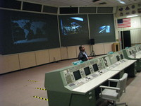 Houston's historic, Apollo era (1960s-70s) mission operations control room.