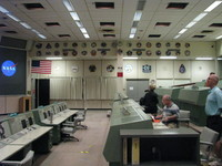The very consoles where Gene Kranz (Flight Director), Charlie Duke (Capsule Communicator), Charles Deiterich (Retrofire Officer) etc. followed the first manned landing on the Moon in July 1969.