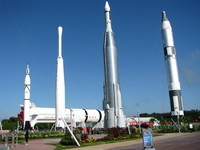 The Rocket Garden at Kennedy Space Center near Titusville, FL.