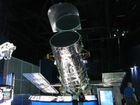 A model of the Hubble Space Telescope, which celebrates its 25 year anniversary in April 2015.