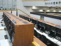 Inside Kennedy Space Center's launch control center.