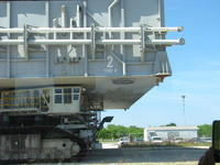 The mighty crawler, built in the 1960s, that carries upright launch vehicles (including the Saturn V) from the VAB to the launch pad.