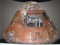 Apollo 14 (?)'s command module in the Astronaut Hall of Fame.