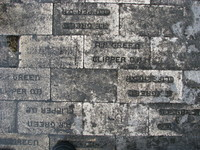 Fire resistant bricks underneath Launch Complex 34, covered in soot from Saturn I and IB launches in the 1960s.