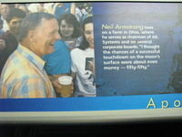 It's also a shame that the Astronaut Hall of Fame still has Neil Armstrong living on a farm in Ohio; he died over two years before this photo was taken.