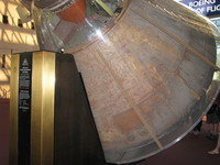The original Apollo 11 Command Module, which contained everything that returned from the first manned Moon landing. It now lives in the Smithsonian's National Air and Space Museum in Washington, D.C.