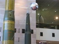Replica of Sputnik, the first artificial satellite.