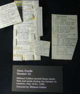 Cards with parts of the Gemini 10 mission plan.