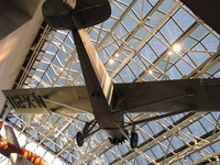 Charles Lindbergh's plane Spirit of St. Louis which achieved the first non-stop flight across the Atlantic.