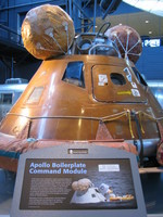 Apollo Boilerplate Command Module at the Udvar-Hazy center in Washington, D.C.