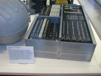Apollo Block I era guidance computer with rope memory.