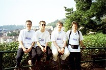 the german team (from left to right: Michael Kreil, Tobias Thierer, Christian Hett, Dominik Schultes)