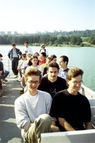 contestants and team leaders on a boat trip (after the 2nd competition day?)