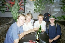 four very blond, very nice and very happy finnish contestants