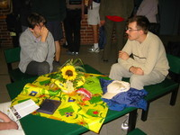Some contestants; Bartosz Walczak (winner of the CEOI 2003) is sitting on the right.