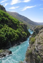 View from the Kawarau bridge, where A.J. Hackett first commercialised bungy jumping in 1986 (I did a jump, too).