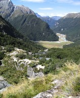 Routeburn Falls Hut, in an amazing location. I wish I had this view from my balcony!