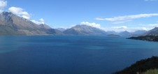 On our way back to Queenstown: Lake Wakatipu
