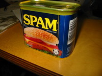 SPAM, the eponym for spam eMails and, unfortunately, not sold in Germany.