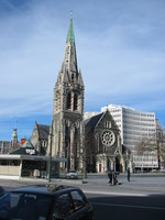 Christchurch cathedral with the small police station.