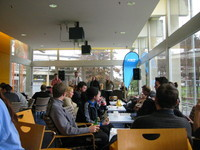 Part of the University of Canterbury Students' Association (UCSA)'s cafeteria, and the 'Sweet Hearts' (now renamed to 'The Sparrows') that were playing there.