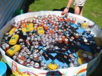 Drink supplies for the Ilam Village BBQ