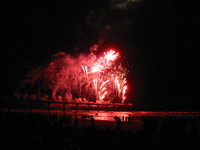 Fireworks started from New Brighton's pier, celebarting Fawkes Night on the 5th of November.
