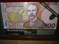 Meet the $100 man! - in the old university (now: Arts Centre), a small museum commemorates Rutherford, who researched there when he was still a nobody, and is now depicted on the highest valued bank note.