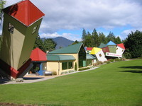 Stuart Landsborough's Puzzling World near Wanaka - featuring a nice collection of puzzles and a maze