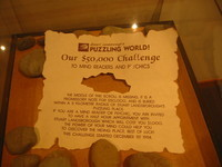 Nice challenge to alleged mind readers; so far, six persons attempted to discover the treasure's hiding place in vain, yielding a total of $NZ 6000 for charity.