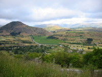 Landscape close to Queenstown, along the road to Wanaka through the Cardronas valley
