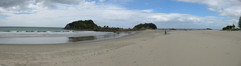Bay of Plenty, the north-eastern shore of NZ's north island - note the phenomenal long white cloud!