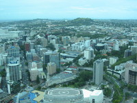 view over Auckland - one tree hill AKA no tree hill is visible in the background, on the left