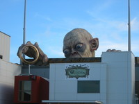 Welcome to Middle-earth: Gollum statue at the airport.