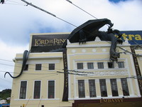 A ringwraith on the rooftop of Embassy Theatre, where the premiere took place.