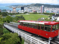 Cliché photo overlooking Wellington, with the only remaining cable car.
