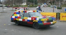 lego - this team won the best dressed car award.